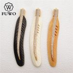 FUWO 3 pcs Unique Feather Ox Bone Pendant High Quality Buffalo Bone Carved DIY <b>Jewelry</b> Necklace Making <b>Supplies</b> Wholesale PD1018