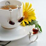 Lotus Fun Moment Real 925 <b>Sterling</b> <b>Silver</b> Natural Stone Handmade Fashion Vintage Cute Teapot Jewelry Set for Women Bijoux