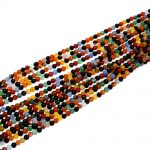Fashion Diy Multi-color Mix 4mm Agat Round Rainbow Color Agat E Onyxs Beads Full Strand <b>Jewelry</b> <b>Supply</b> 10 Full Strand