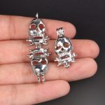 10pcs Silver Skull Pearl Cage <b>Jewelry</b> Making <b>Supplies</b> Bead Cage Pendant Essential Oil Diffuser For Pearl <b>Jewelry</b>