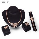 ROSE LIFE Women'S Fashion Necklace Earrings Bracelet Ring Four Sets Of <b>Supplies</b> <b>Jewelry</b> Set Gift