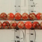 5strands 10strands Orange Sea Sediment Stone Smooth Round Beads <b>Jewelry</b>,15.5inches Emperor Stone Spacer Beads <b>Supply</b>,more size