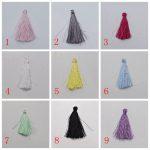 100pcs/lot 4cm 18 Colors Optional Handmade High quality embroidery thread Silk Tassels Satin <b>Jewelry</b> <b>Supplies</b> 2033