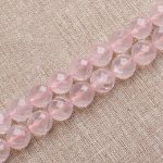 Full 14.5inch Strand Natural 64-facet Rose Pink Crystal Round Loose Beads Size 6mm-12mm DIY <b>Jewelry</b> <b>Supplies</b>