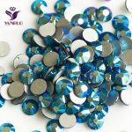 YANRUO Montana AB (207 AB) DIY Rhinestones Flatback Crystal Non Hotfix <b>Supplies</b> Glass Stones for Blets Costume <b>Jewelry</b> Strass