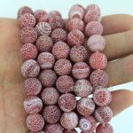 New <b>Jewelry</b> Diy 10mm Red Agatee dragon vein agat Beads <b>Supply</b>