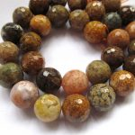 6-14mm Faceted,Ocean Agate bead Crazy Lace Agate, Full Strand16″ Multi Color, Natural Gemstone, Beading <b>Supply</b>, Lace Agate Agate