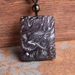 <b>supply</b> of obsidian pendant natural counter genuine Obsidian Dragon Necklace Pendant <b>Jewelry</b> Brand for men and women in China