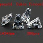 <b>Jewelry</b> <b>Supplies</b> 300pcs/pcak AAA Grade CZ Cubic Zirconia Trapeziod Zircon 1*2*5MM DIY <b>Jewelry</b> Findings <b>Supplies</b> Free Shipping