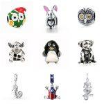 Fit Pandora Bracelet Silver 925 Original animal charms collection owl rabbit elephant frog dog beads fashion DIY <b>jewelry</b> <b>supply</b>