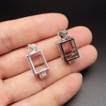 10pcs Silver Plated Cube Pearl Cage <b>Jewelry</b> Making <b>Supplies</b> Beads Cage Locket Pendant Essential Oil Diffuser for Oyster Pearl