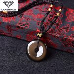 Wholesale <b>supply</b> counter genuine natural ice Rainbow Obsidian and heart pendant <b>jewelry</b> buckle paragraph Made in China