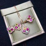shilovem 925 <b>sterling</b> <b>silver</b> Natural tourmaline Ring pendants <b>earrings</b> fine Jewelry women ethnic wedding open ltz040401agx
