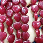 Wholesale Jade Heart Love Faceted Beads cherry purple hot red green Sapphire Blue Black White mixed making <b>supplies</b> 12mm full st
