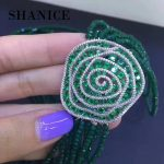 SHANICE Making <b>Supplies</b> DIY Beaded <b>Jewelry</b> Accessories Blue Green Flower Pendant For Pearls Beaded Necklace Making Findings