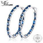 JewelryPalace Huge 13.5ct Genuine Londun Blue Topaz Hoop <b>Earrings</b> 925 <b>Sterling</b> <b>Silver</b> New Fine Jewelry For Women Wife Girl