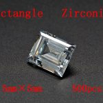 MRHUANG Shine!<b>Jewelry</b> <b>Supplies</b> AAA Brilliant Cuts 2.5*5mm Rectangle Shape Clear Color Cubic Zirconia Stone Beads For <b>Jewelry</b> Diy