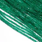"""Micro Green Faceted Rondelle Strands 15"""" E merald Beads 2mm Tiny Green Spinal Beads DIY <b>Jewelry</b> <b>Supplies</b>"""