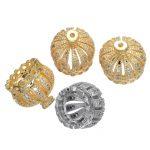 <b>Jewelry</b> Making <b>Supplies</b> Micro Pave Zircon Copper Metal 13mm Crown Tassel Cap Pendant For DIY Tassel Earrings Necklace Findings