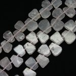Full one strand Natural Pink Quartz Crystal Top Drilled Slab Slice Loose Beads Spacers Charms Necklace <b>Jewelry</b> <b>Supplies</b>