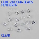 Cubic Zirconia Beads Beauty Pentagon Cut Design stones <b>Supplies</b> For <b>Jewelry</b> 3D Nail Art DIY Decorations Crystal Clear Color