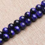Natural Purple Tiger Eyes Stone Loose Round Beads 6 8 10 12mm Strand DIY <b>Jewelry</b> Making <b>Supplies</b>