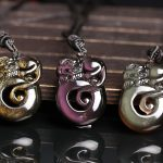 Counter genuine wholesale <b>supply</b> natural men's and women's ice color Obsidian Yaoshi gold <b>jewelry</b> pendant wealth enjoy in China