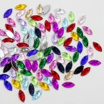 200 Pieces Mixed Color Horse Eye Flatback Acrylic Rhinestone <b>Jewelry</b> Findings DIY <b>Supplies</b>