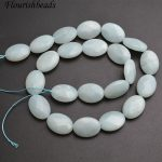 Natural Pure Color Faceted Amazonite Flat Oval Shape Stone Loose Beads <b>Jewelry</b> making <b>supplies</b>