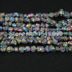 5-8mm Rainbow Titanium Quartz Drilled Chips Beads,Raw Crystals Rough Quartz Rubble Loose Beads Nuggets <b>Jewelry</b> <b>Supplies</b>