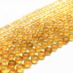 Natural Stone Beads Yellow Crystal Citrines Round Spacer Ball 6 mm 8 mm 10 mm 12 mm DIY <b>Jewelry</b> Making <b>Supplies</b>