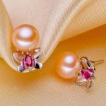 Women Gift word 925 <b>Sterling</b> <b>silver</b> real [bright pearl] natural freshwater pearl <b>earrings</b>, <b>earrings</b>, 925 <b>Silver</b> Butterfly