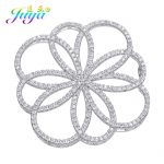 DIY Women Sweater Pearls Necklace Accessories Micro Pave Zircon Floating Flower Decoration Connectors <b>Jewelry</b> Making <b>Supplies</b>