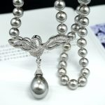 Beadwork Pearls Necklace Making Material Micro Pave Zircon Swan Decoration Connectors Accessories DIY <b>Jewelry</b> Findings <b>Supplies</b>