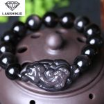 Light litzi natural men's and women's ice color Obsidian flourishes brave bracelet <b>jewelry</b> wholesale <b>supply</b>