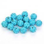 50pcs/lot 10mm Shamballa Beads Accessories Lake Blue Beads <b>Supply</b> Charm Disco Ball Bead <b>Jewelry</b> Suitable Knitting Bracelet