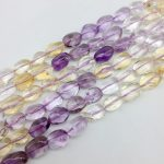New Arrival Colorful Mixed Yellow and Purple Crystal Beads Smooth Egg Oval Spacer 10-14 mm DIY <b>Jewelry</b> Making <b>Supplies</b>