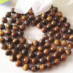 Natural 8mm African Tiger Eye Stone Beads Neckalce Fashion <b>Jewelry</b> Hand Made Necklace Natural Stone 36 inch Wholesale <b>Supply</b>