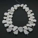 Polished Natural Silver Titanium AB Quartz Top Drilled Slab Beads Nacklace Bulk,Raw Crystal Slice Beads Pendant <b>Jewelry</b> <b>Supplies</b>