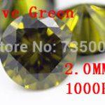 MRHUANG <b>Jewelry</b> <b>Supplies</b> AAA Grade CZ Cubic Zirconia Olive Green Round Zircon 2.0MM DIY <b>Jewelry</b> Findings <b>Supplies</b> Free Shipping