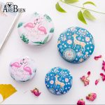 AVEBIEN 10pcs Flamingo Cookie Tin Box with Cartoon Pictures Event Party <b>Supplies</b> Candy Package Case Flower/<b>Jewelry</b> Storage Boxes