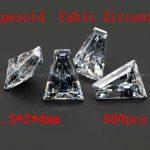 <b>Jewelry</b> <b>Supplies</b> 500pcs/pcak AAA Grade Cubic Zirconia Trapeziod Zircon 1.5*2*4MM DIY <b>Jewelry</b> Findings <b>Supplies</b> Free Shipping