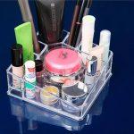 Transparent acrylic cosmetics storage box / creative desktop <b>jewelry</b> storage <b>supplies</b>