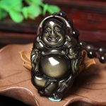 genuine wholesale <b>supply</b> of natural ice color Obsidian free Buddha Pendant Crystal Necklace <b>Jewelry</b> for men and women China