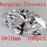 Free shipping!High Quality !100pcs/pack Marquise Shape Zircon AAA Grade Cubic Zirconia 5*10MM DIY <b>Jewelry</b> Findings <b>Supplies</b>