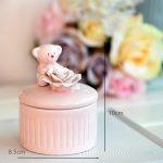 1set Pink Ceramic Candy Box Wedding <b>Supplies</b> Baby Shower Gifts Box Birthday <b>Supply</b> Home Decor Cute Bear&Flower <b>Jewelry</b> Ring Box