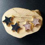 WT-E258 Romantic star shape colorful stone earrings ,Super quality gold stone earrings <b>jewelry</b> <b>supplies</b>