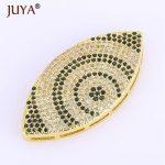 DIY <b>Jewelry</b> Making <b>Supplies</b> Luxury AAA Cubic Zirconia Rhinestone Crystal Big Evil Eye Beads Pendant Connector For <b>Jewelry</b> Making