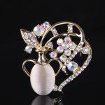 Personality vase brooch <b>jewelry</b> for women/men fashion <b>jewelry</b> brooch pins metal Scarf Wedding gift diy Jewellery accessories