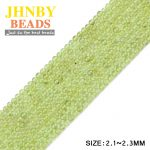 JHNBY 2mm Small Olive Green crystals High quality Round Natural Stone 38cm Loose beads for <b>Jewelry</b> bracelet making DIY <b>Supply</b>
